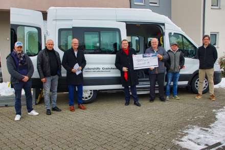 Freudige Gesichter bei der Übergabe an die Lebenshilfe Crailsheim e. V.